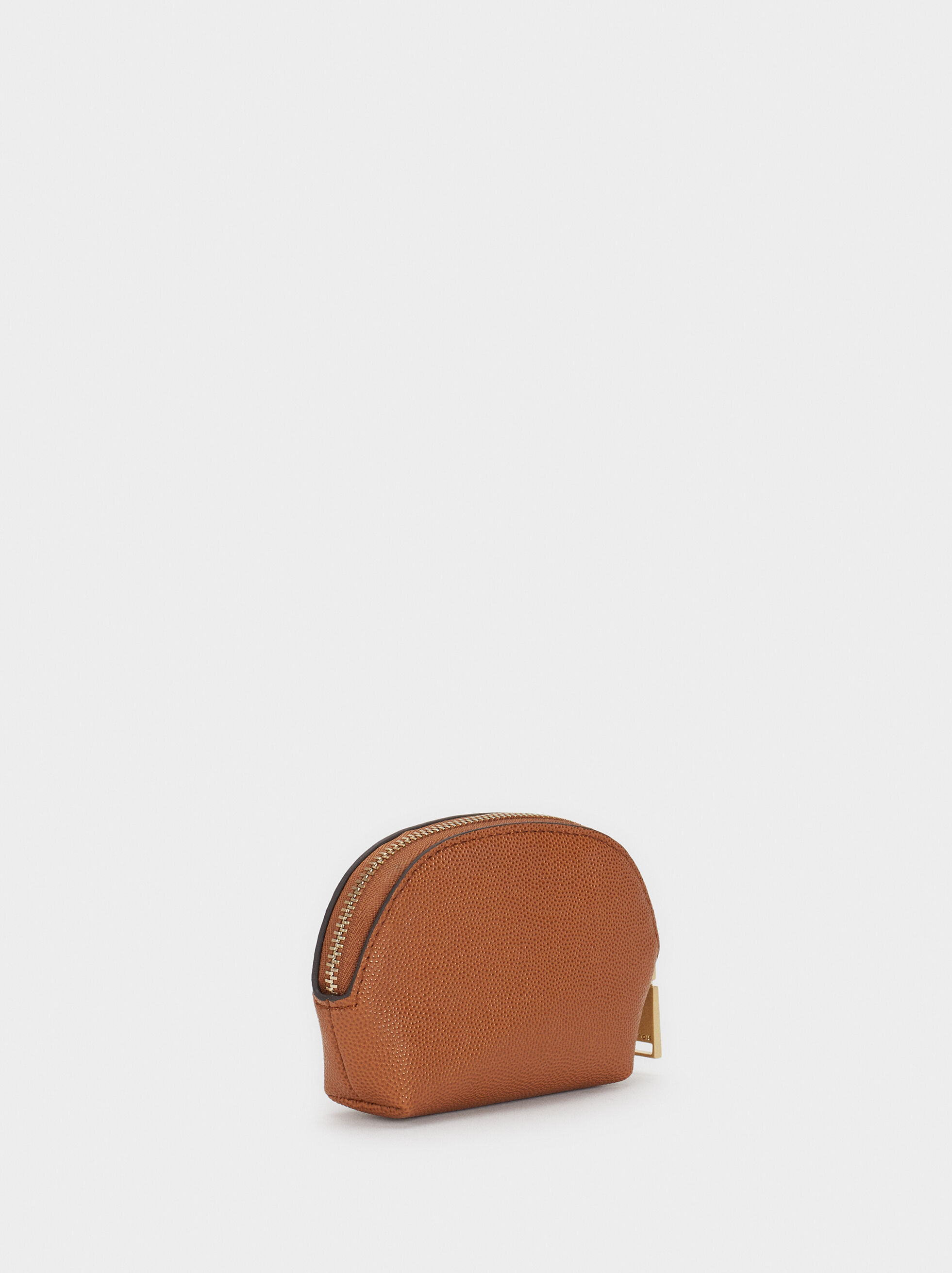 Small Embossed Purse, Camel, hi-res