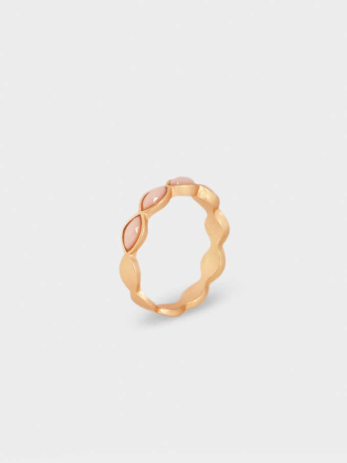 Metallic Ring, Pink, hi-res
