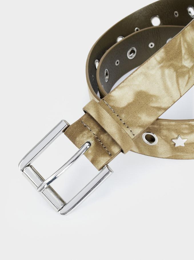 Cinturón Tie-Dye, Caqui, hi-res