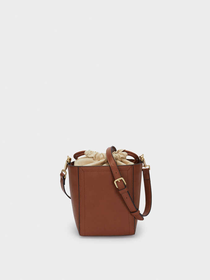 Bucket Bag With Removable Strap, Camel, hi-res