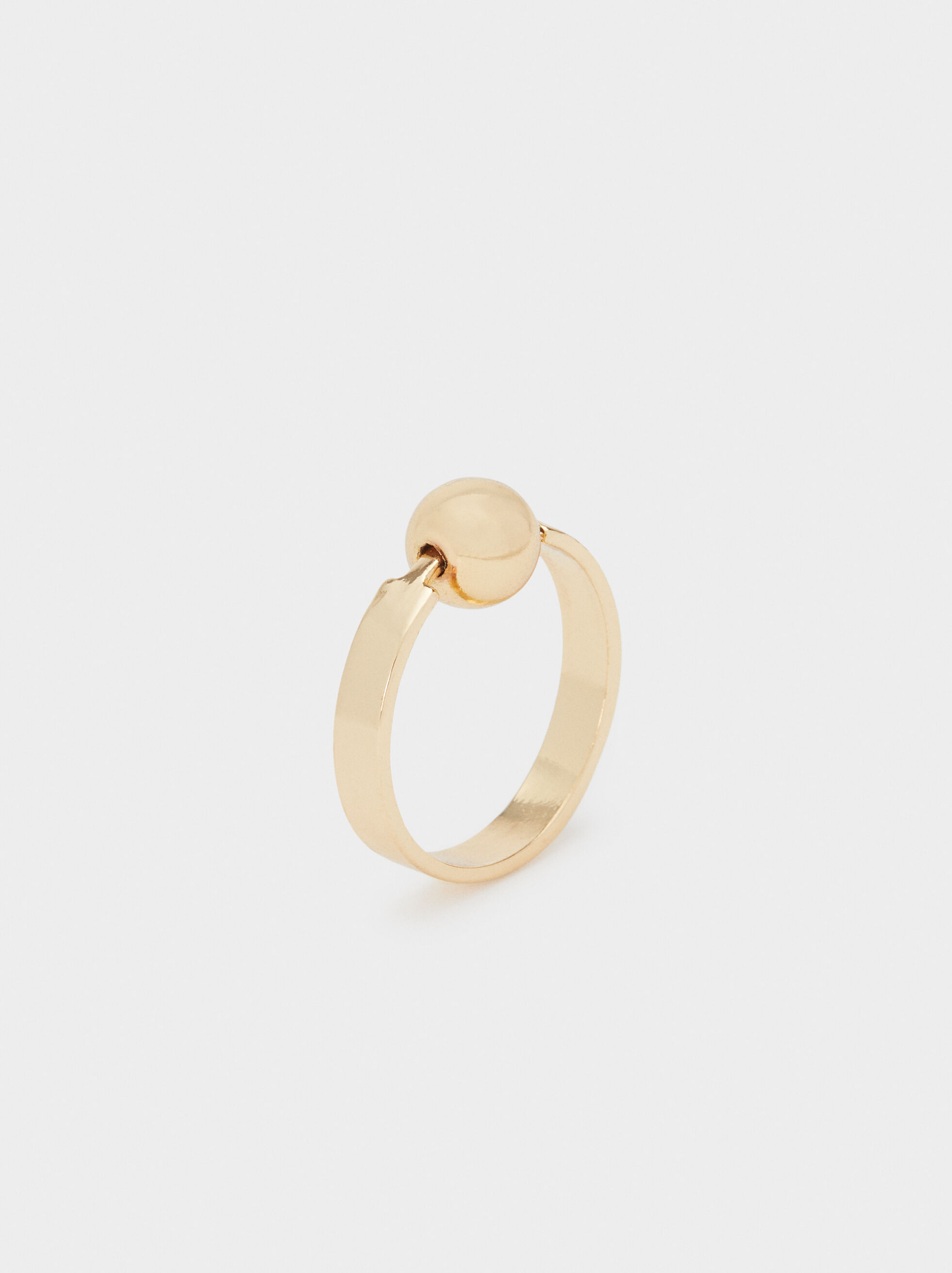Gold Faux Pearl Ring, , hi-res