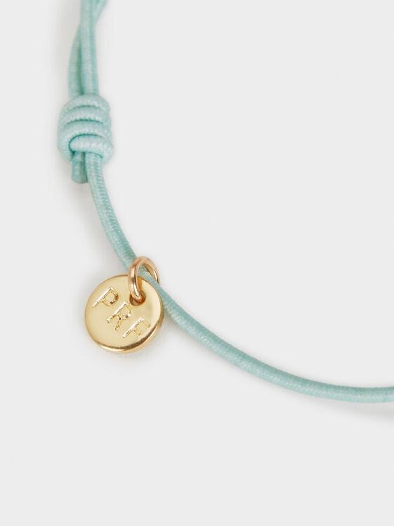 Elastic Bracelet With Stone, Green, hi-res
