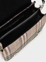 Chequerboard Crossbody Bag, Green, hi-res