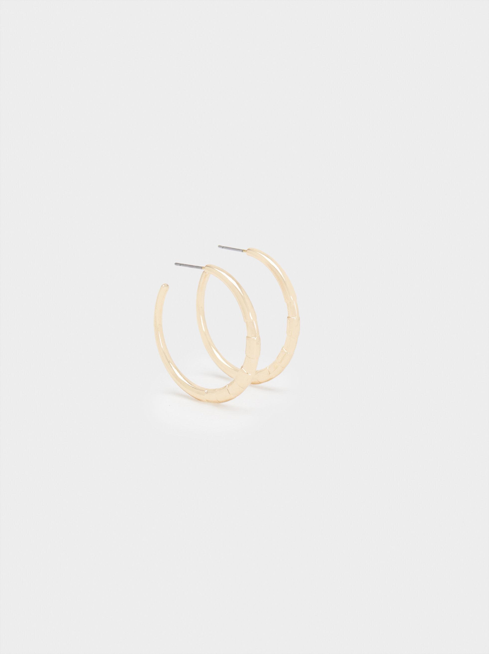 Small Gold Hoop Earrings, , hi-res