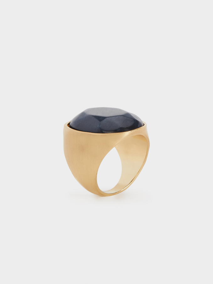 Savage Sparkle Stone Ring, Blue, hi-res