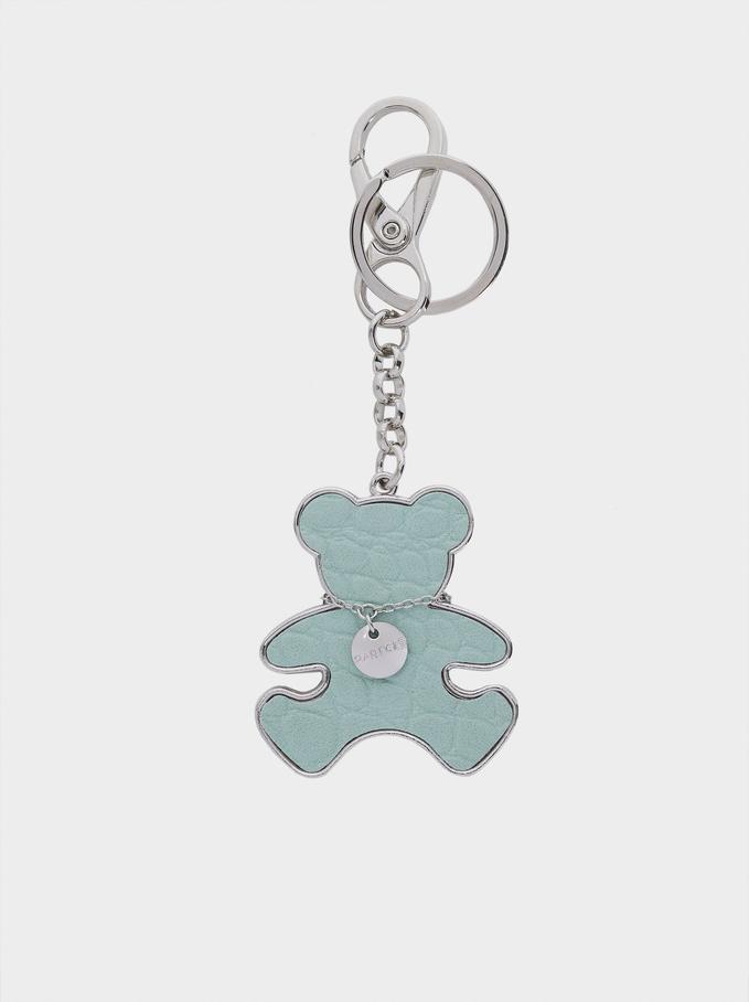 Bear Key Ring, Green, hi-res