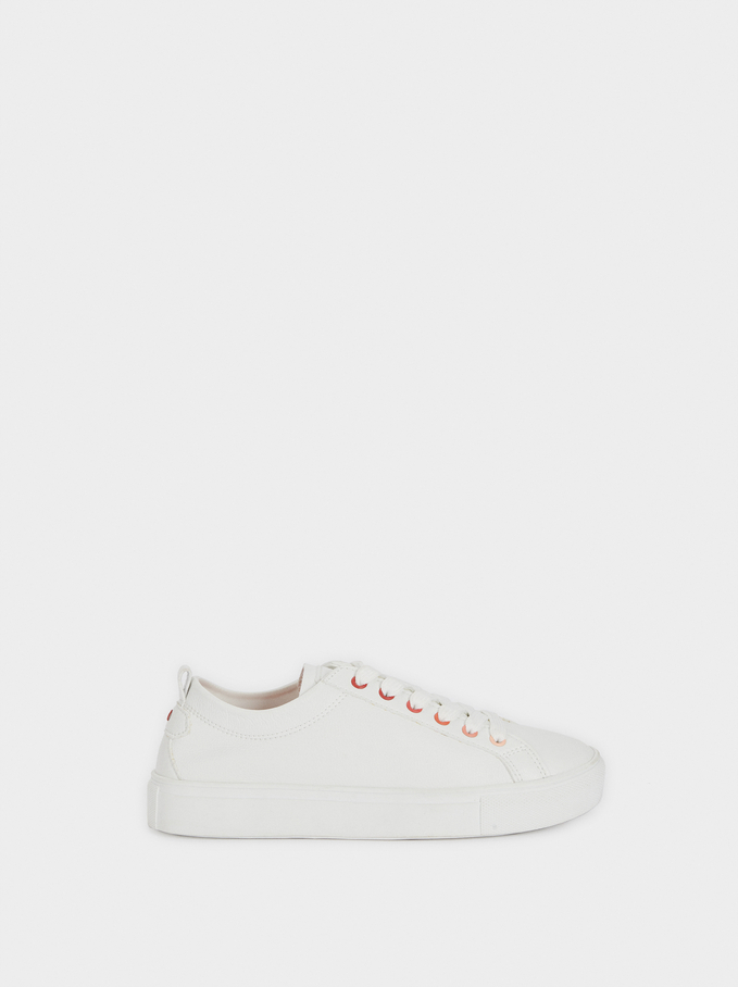 White Trainers, White, hi-res
