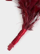 Fascinator With Feathers, Red, hi-res