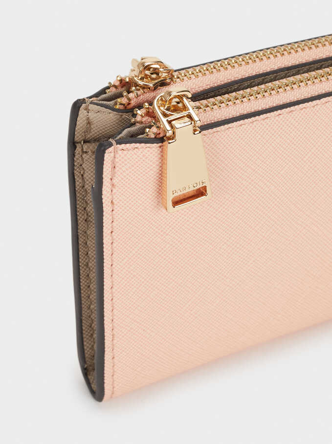 Plain Long Wallet, Pink, hi-res