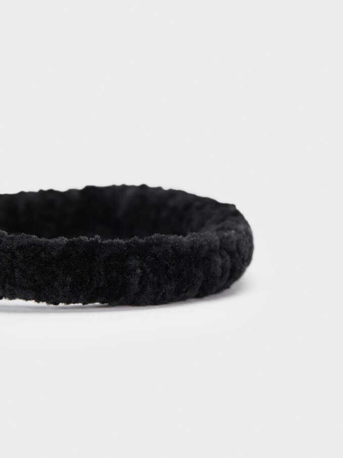 Plain Scrunchie, Black, hi-res