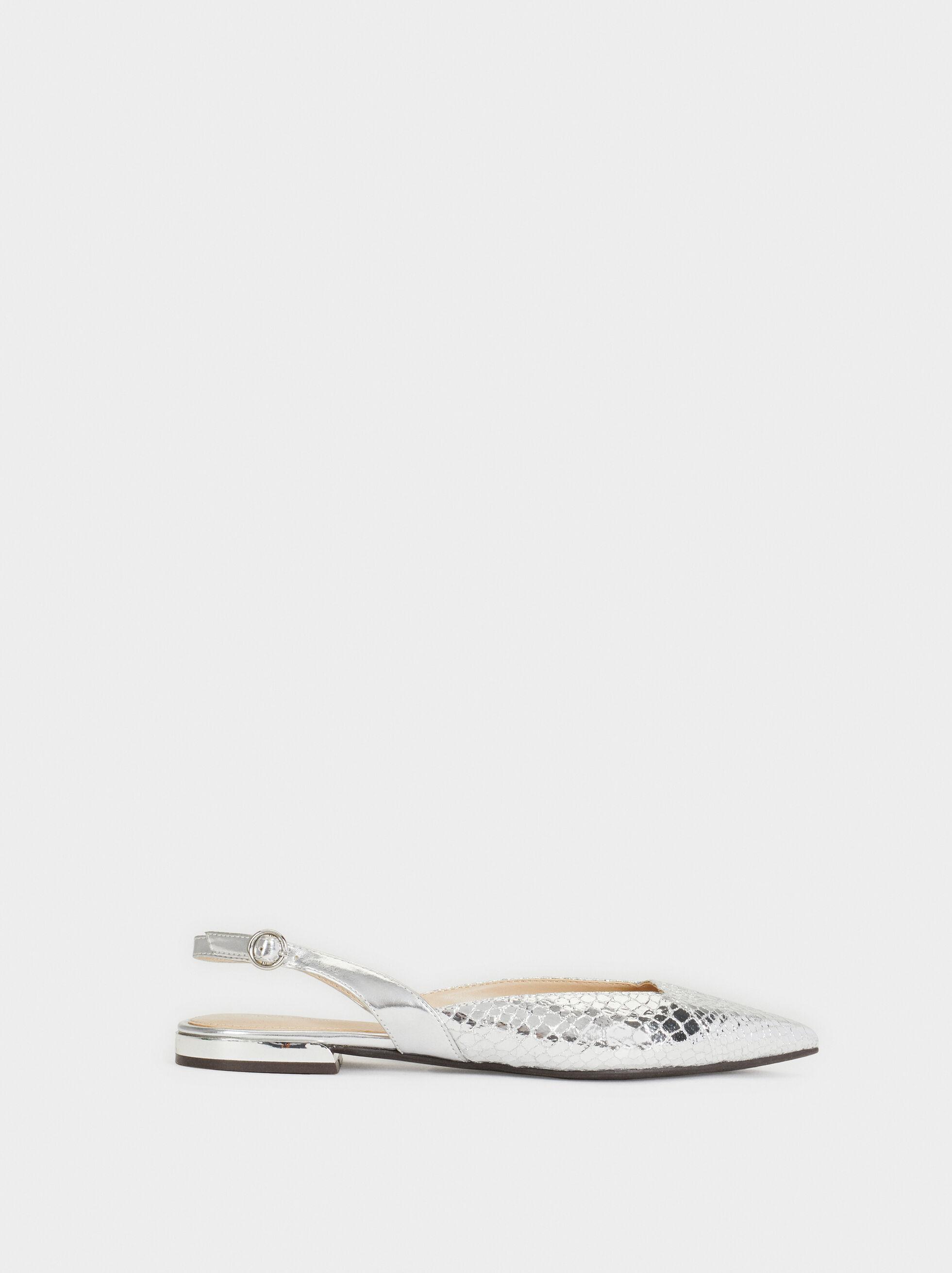 Metallic Open-Back Shoe, , hi-res