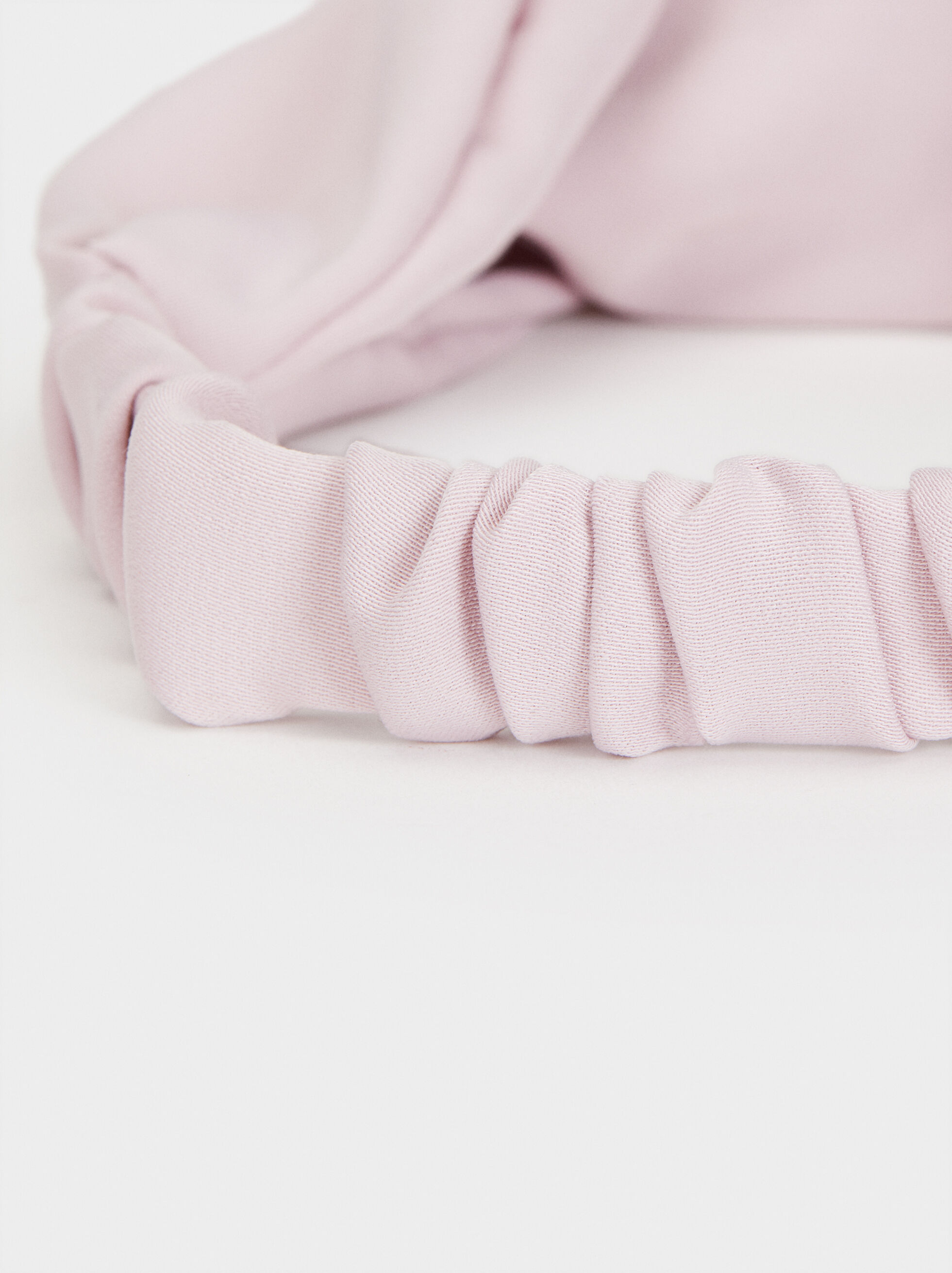 Plain Knot Headband, Pink, hi-res