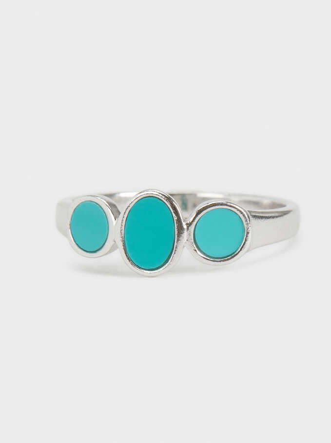 Silver 925 Ring, Blue, hi-res