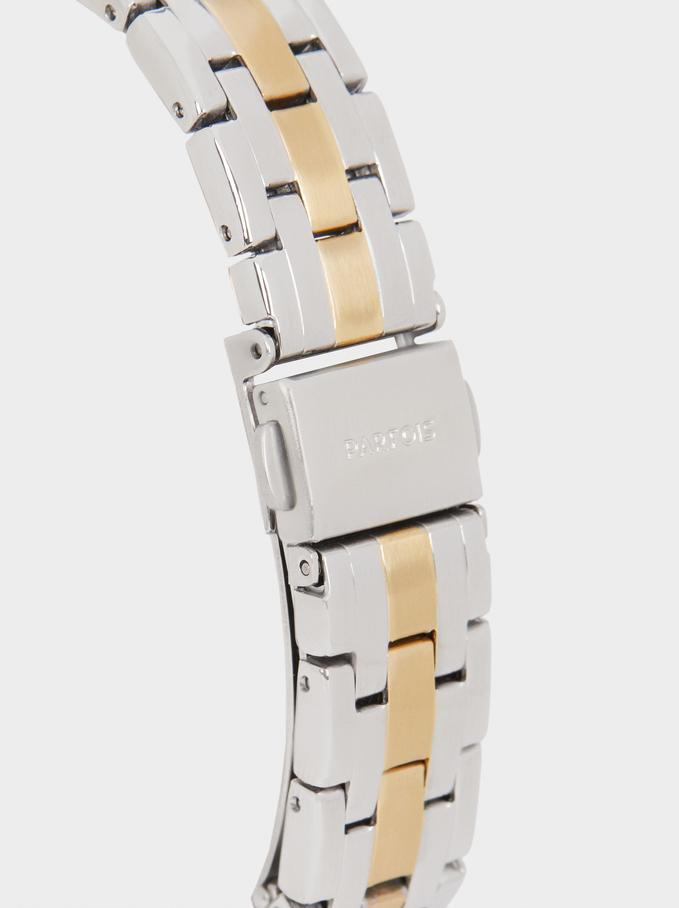 Montre-Bracelet En Acier, Doré, hi-res