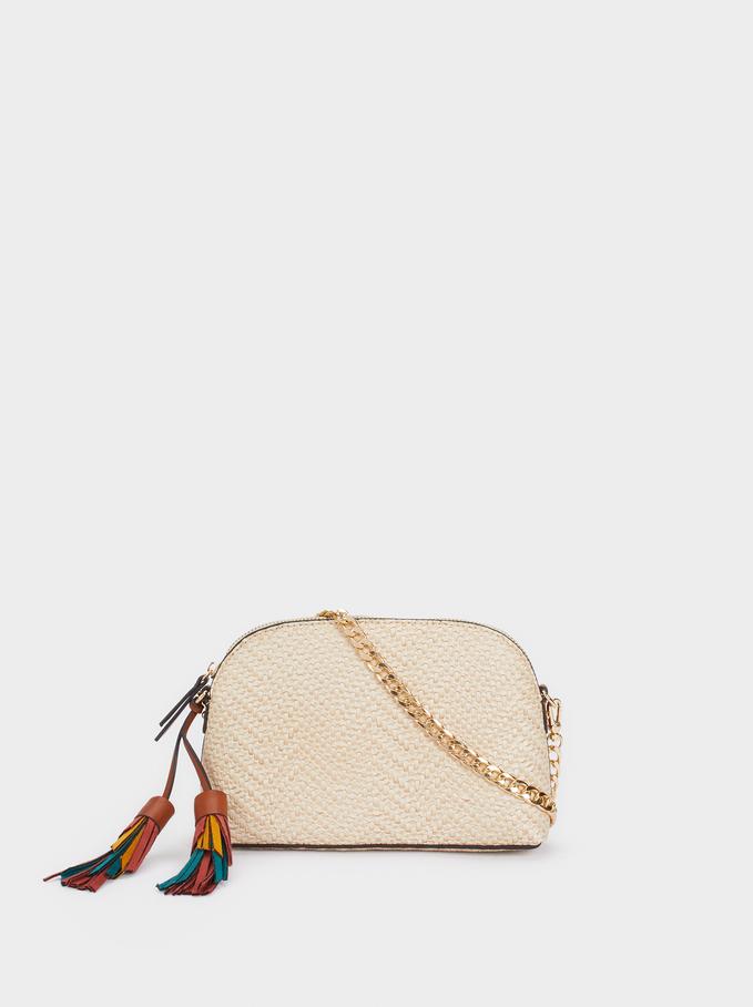 Multicoloured Charm Crossbody Bag, Ecru, hi-res