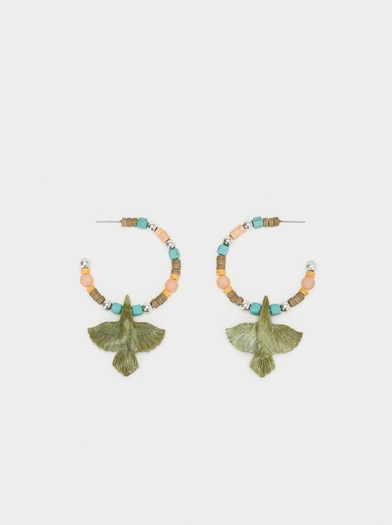 Start Valley Large Hoop Earrings, Multicolor, hi-res