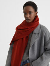 Plain Maxi Scarf, Orange, hi-res