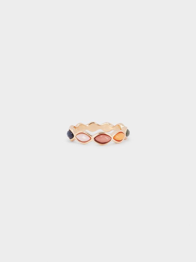 Irregular Metallic Ring, Multicolor, hi-res