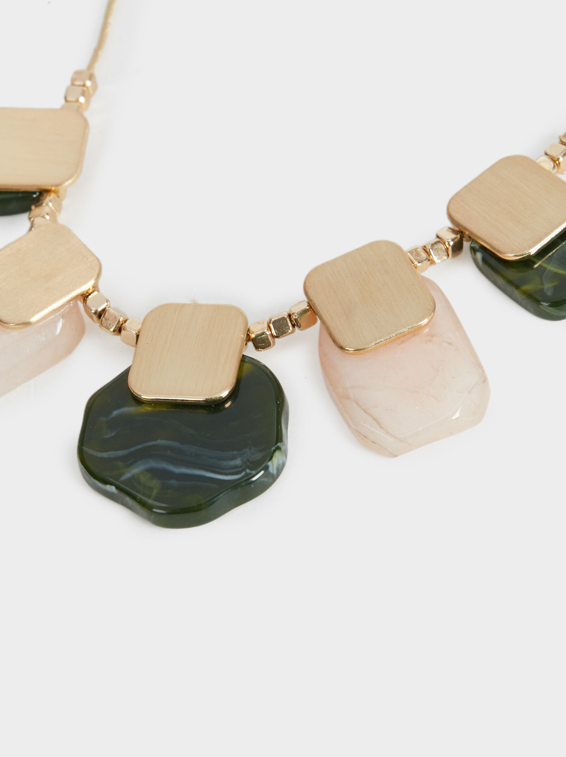 Stone Story Necklace, Multicolor, hi-res
