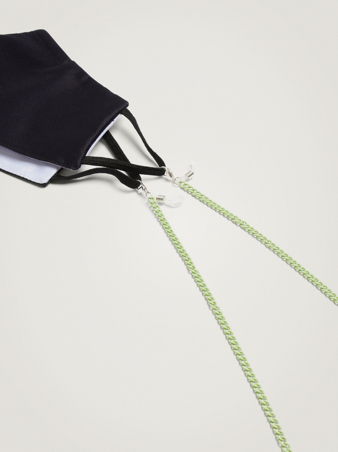 Chain For Sunglasses Or Mask, Green, hi-res