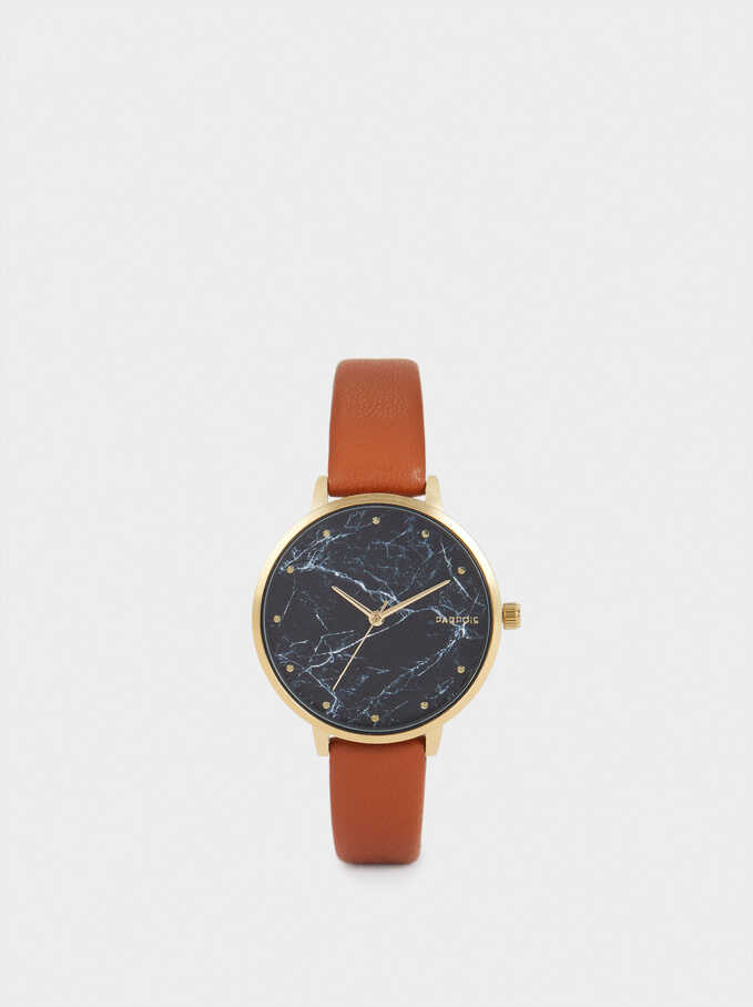 Watch With Contrasting Face, Camel, hi-res
