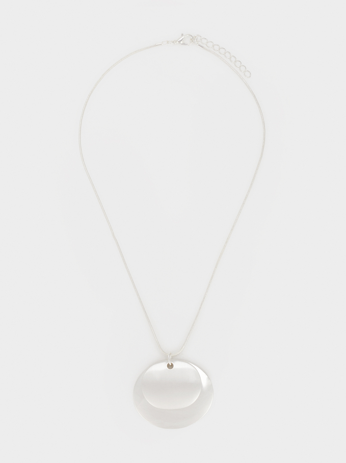 Basic Short Necklace, Silver, hi-res