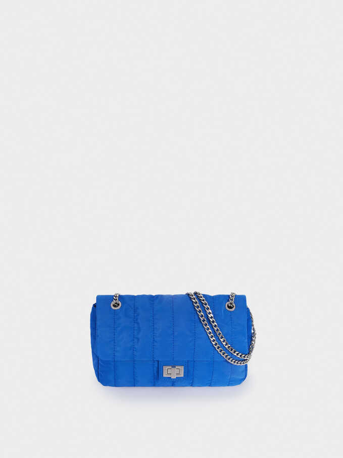 Quilted Nylon Crossbody Bag, Blue, hi-res