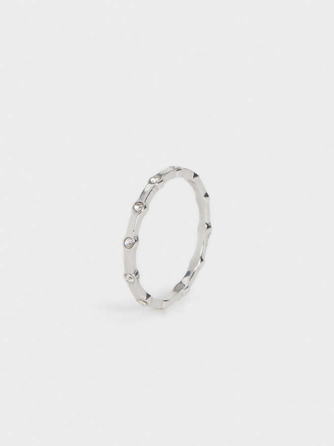 Stainless Steel Ring, Silver, hi-res