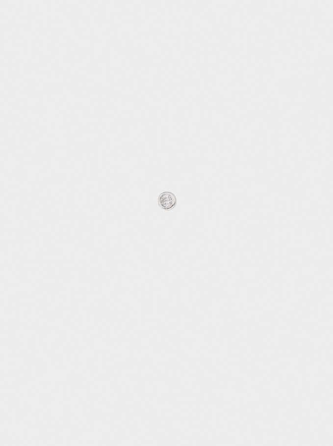 925 Silver Nose Piercing With Zirconia, Silver, hi-res