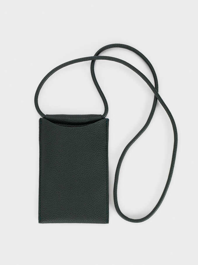 Phone Case With Shoulder Strap , Green, hi-res