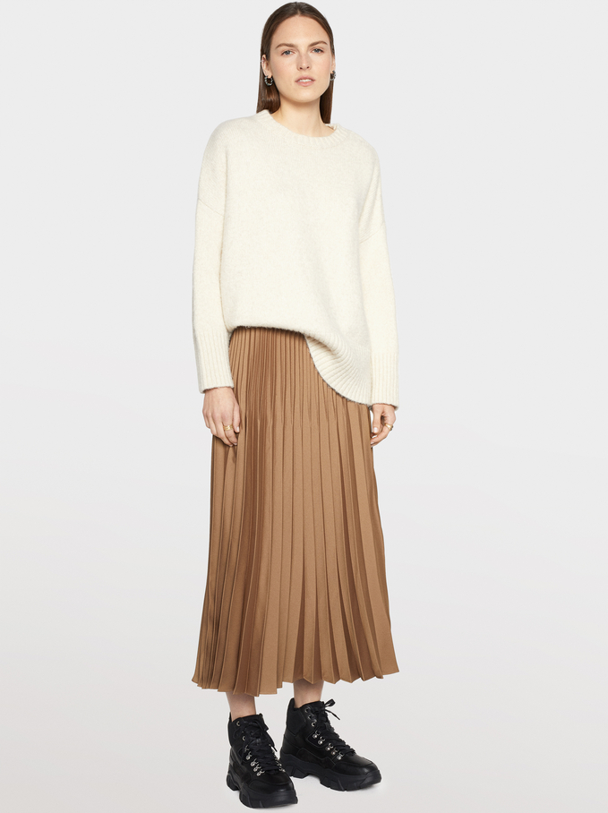 Pleated Skirt, Golden, hi-res