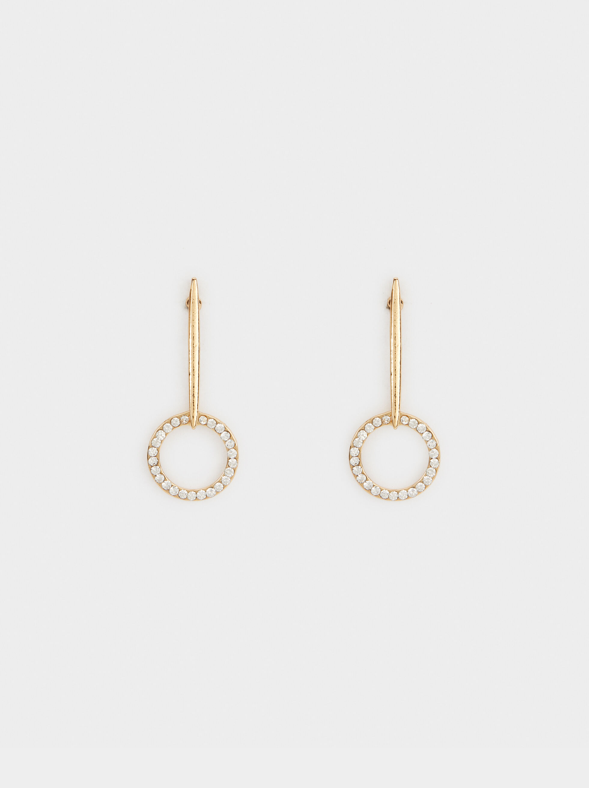 Medium Earrings With Rhinestones, , hi-res