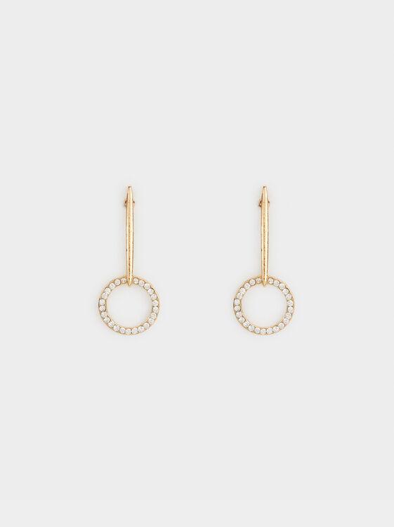 Medium Earrings With Rhinestones, , hi-res