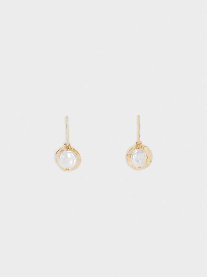 Medium Gold Earrings, Golden, hi-res