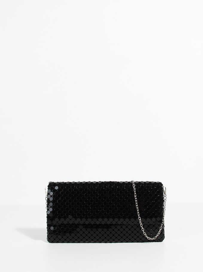 Big Mesh Hand Bag, Black, hi-res