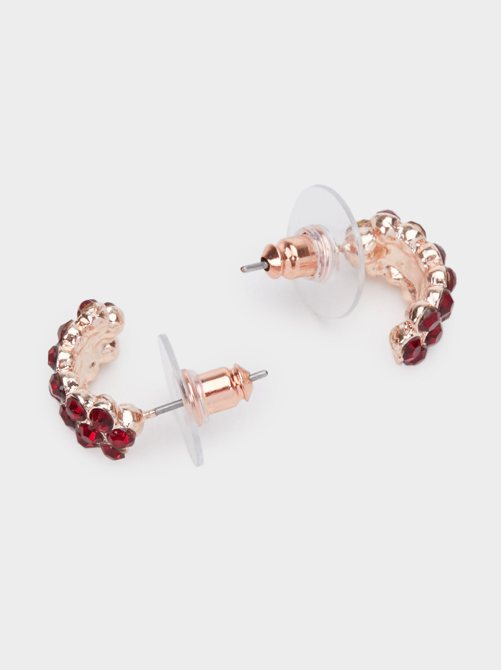 Rose Berry Short Earrings, Bordeaux, hi-res