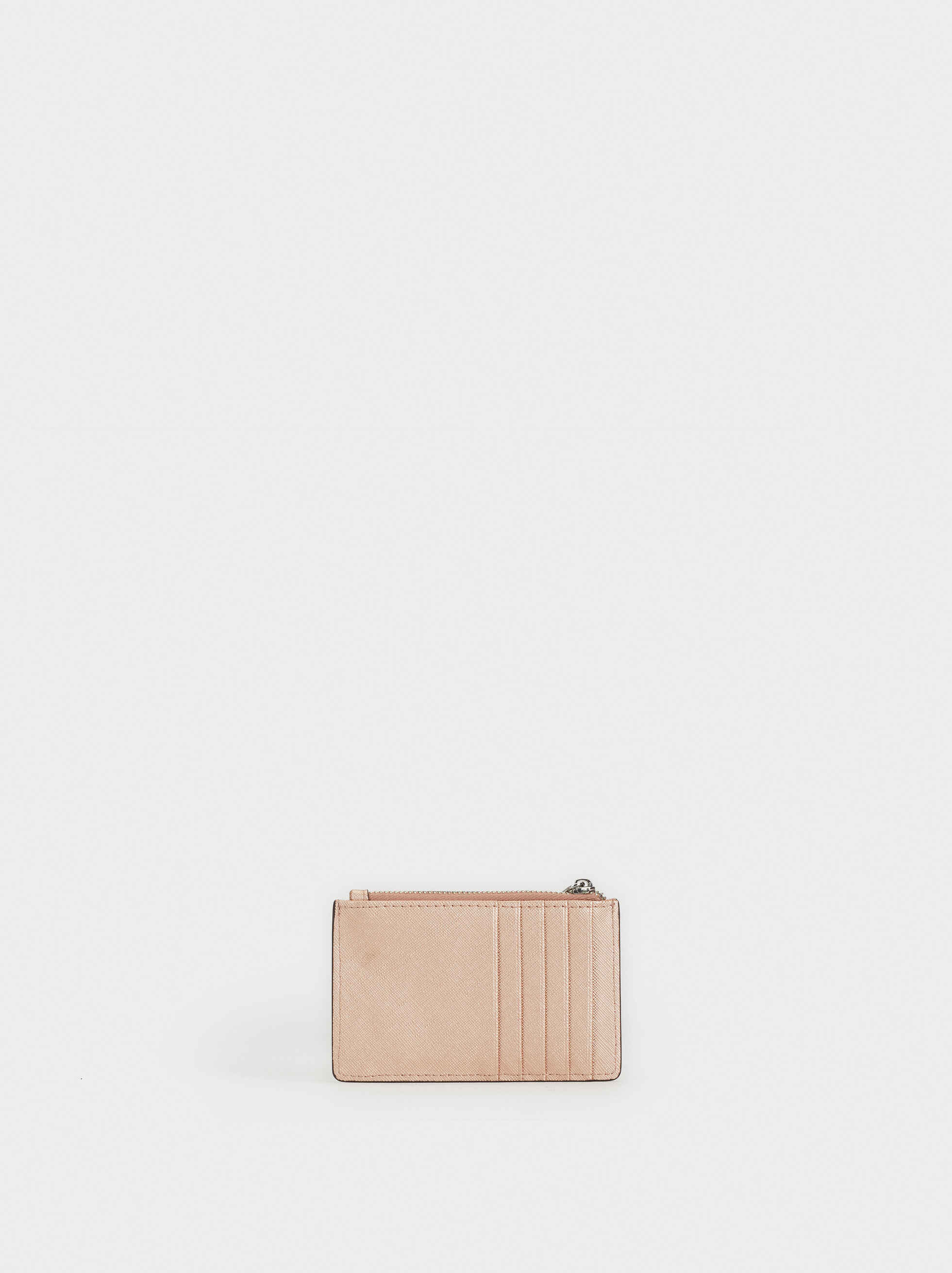 Plain Card Holder, Orange, hi-res