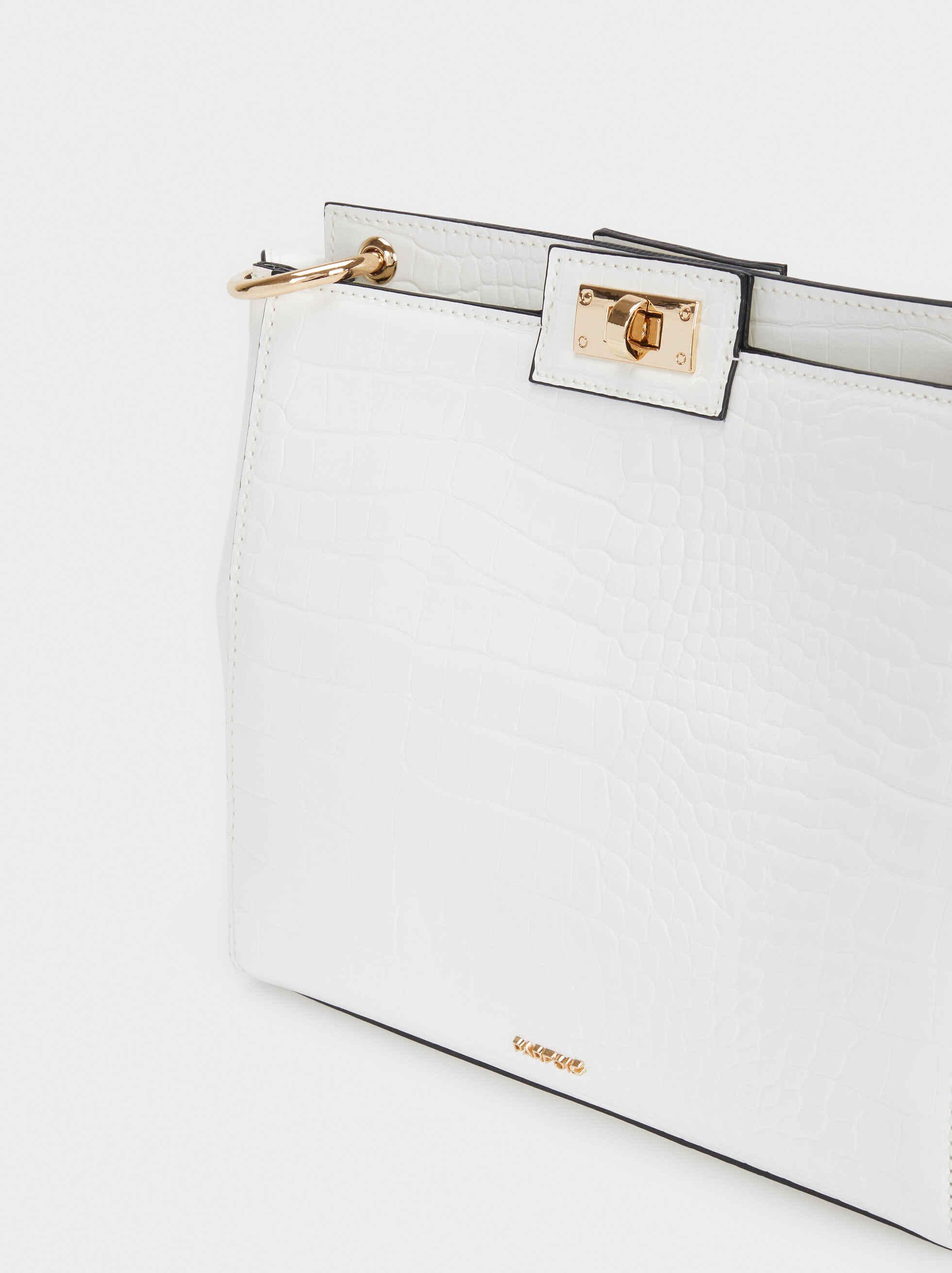 Animal Embossed Crossbody Bag, White, hi-res