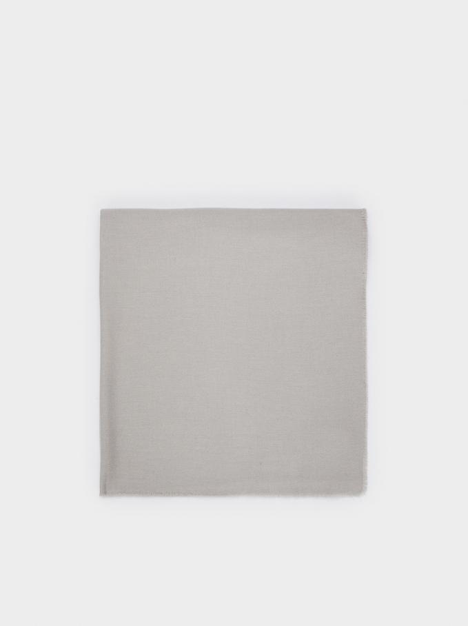Plain Maxi Scarf, Grey, hi-res