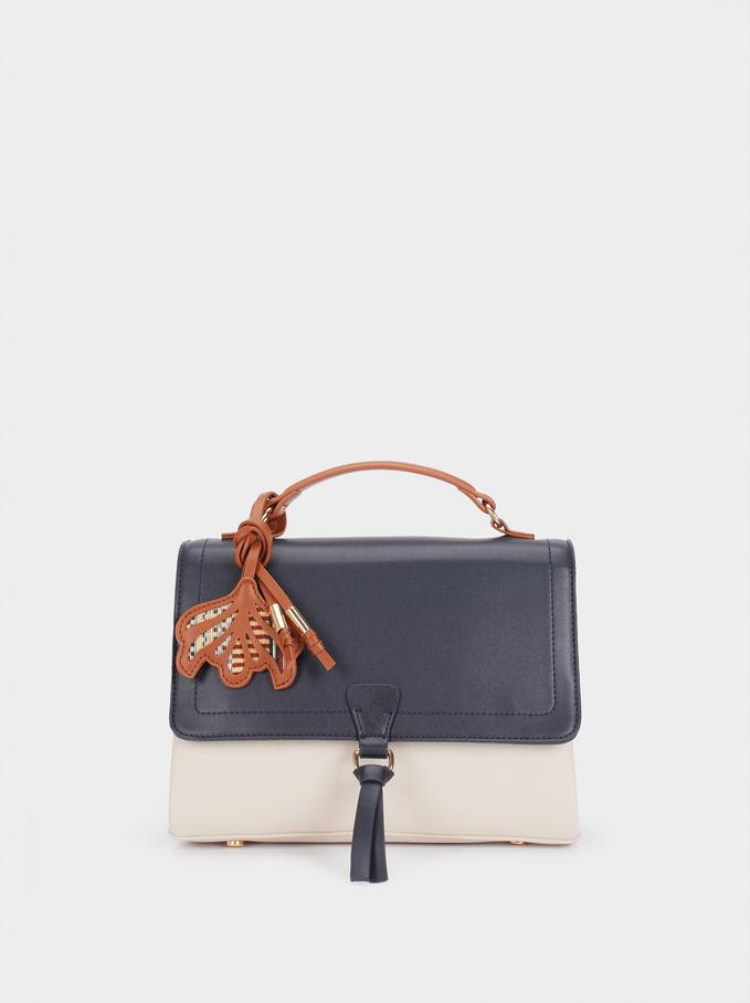 Lotus Tote Bag, Navy, hi-res