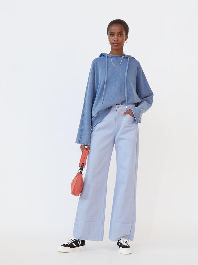 Pantalón De Campana, Azul, hi-res