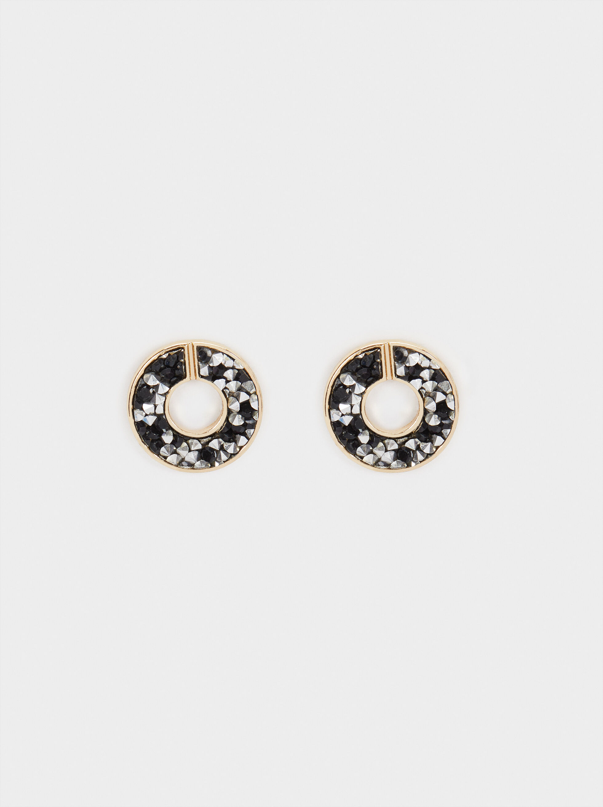 Small Earrings With Multicolour Crystals, Multicolor, hi-res
