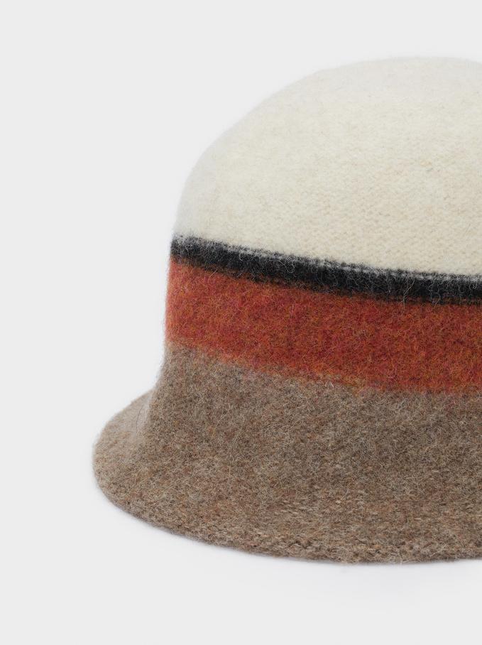 Chapeau Cloche En Maille, Multicolore, hi-res