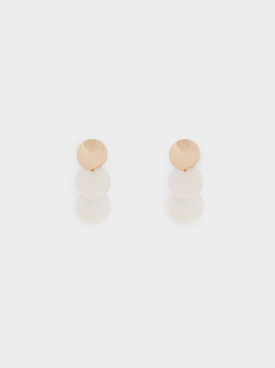 Medium Two-Tone Earrings, , hi-res