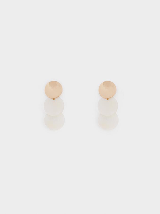 Medium Two-Tone Earrings, Golden, hi-res