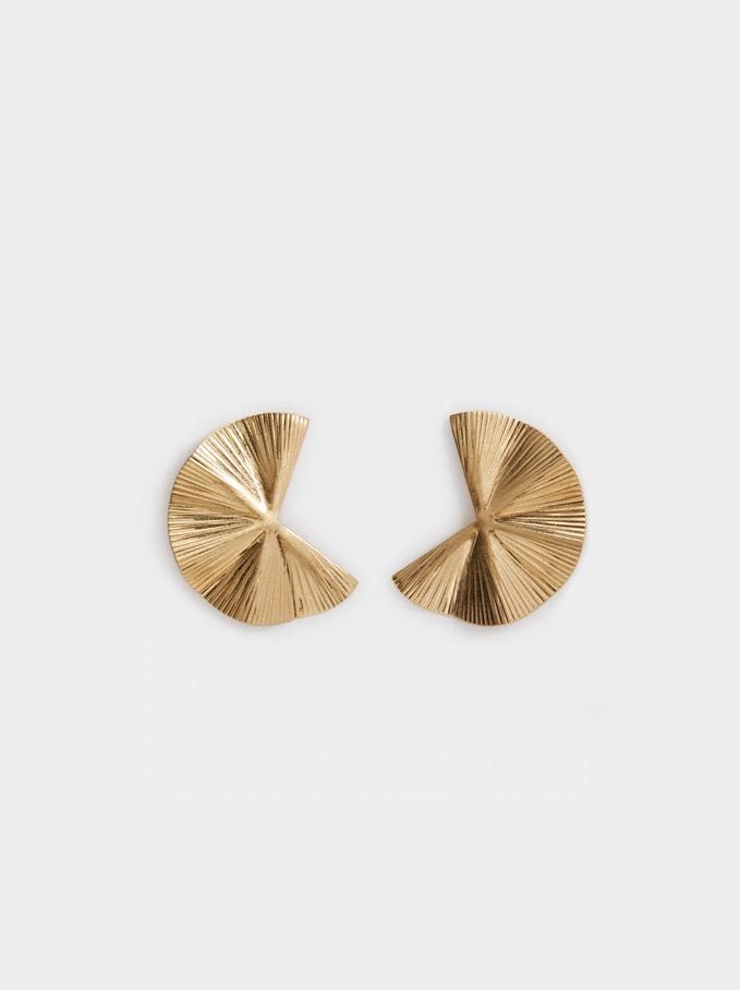 Wavy Earrings, Golden, hi-res