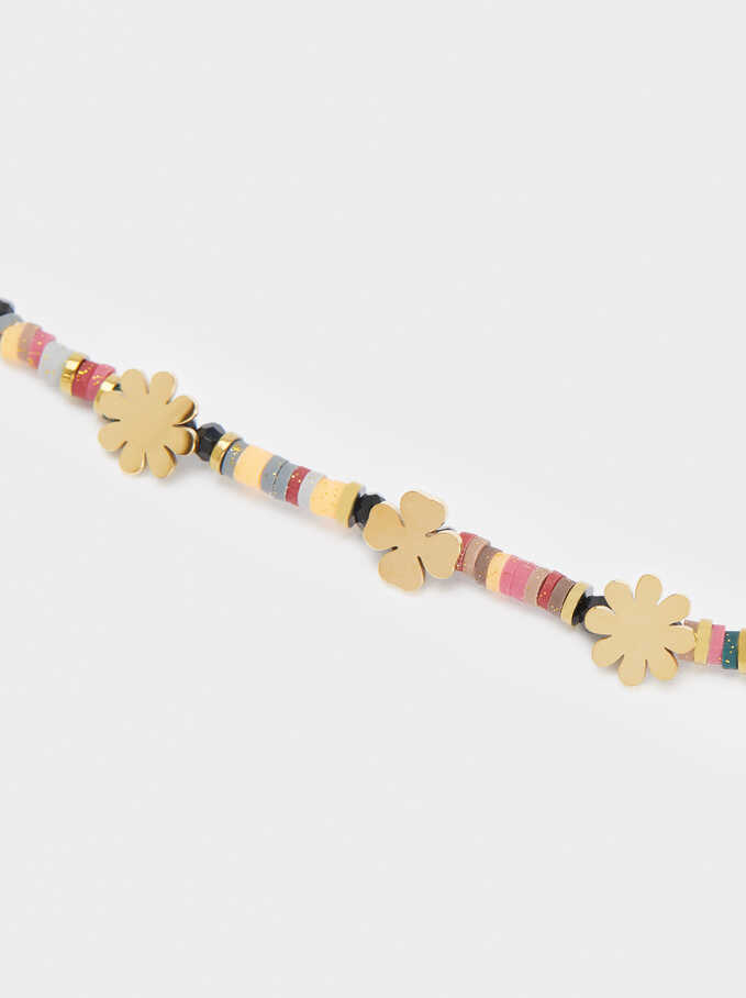 Stainless Steel Bracelet With Charms, Multicolor, hi-res
