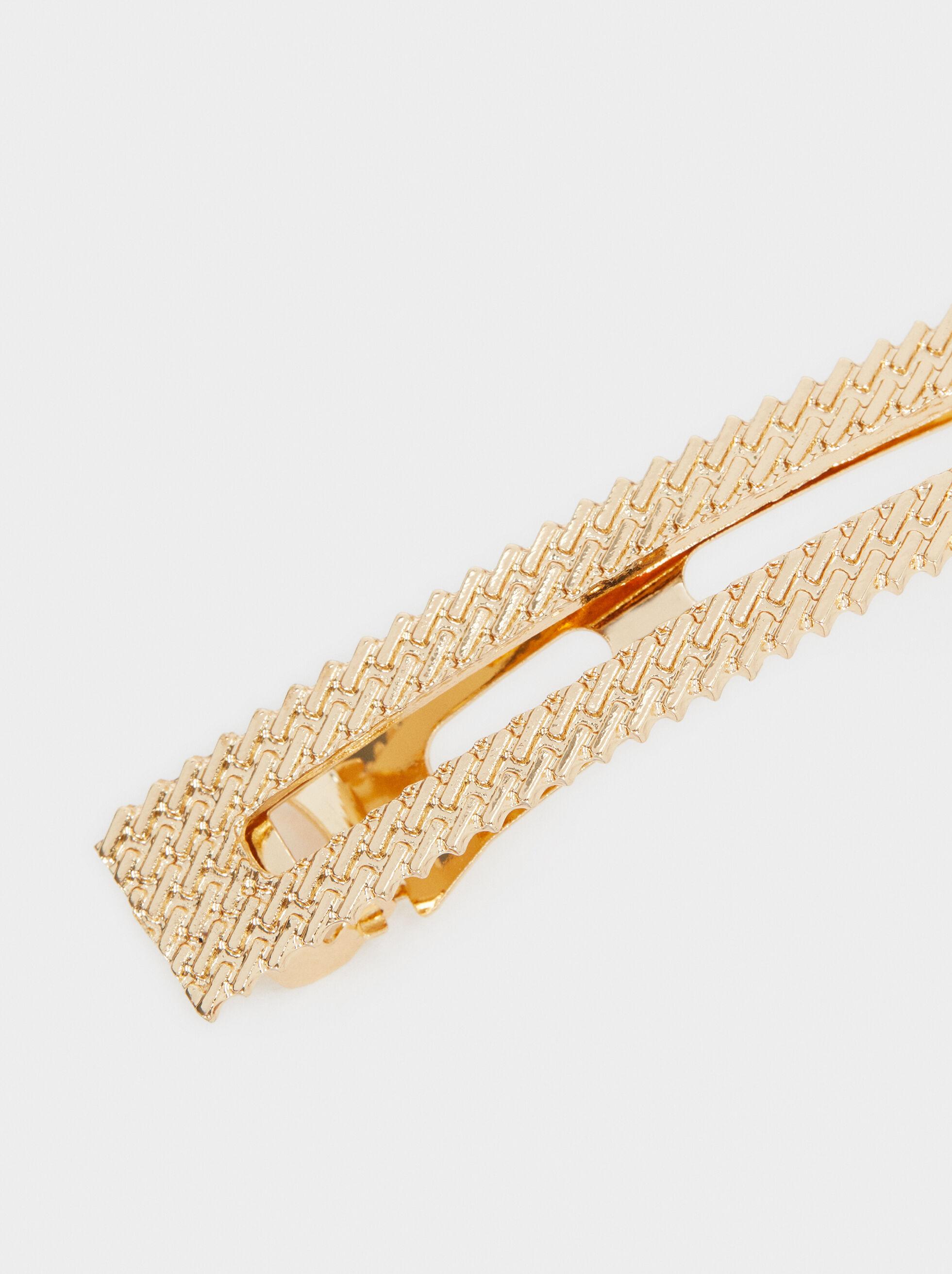 Pinça Metálico Dourado, Dourado, hi-res