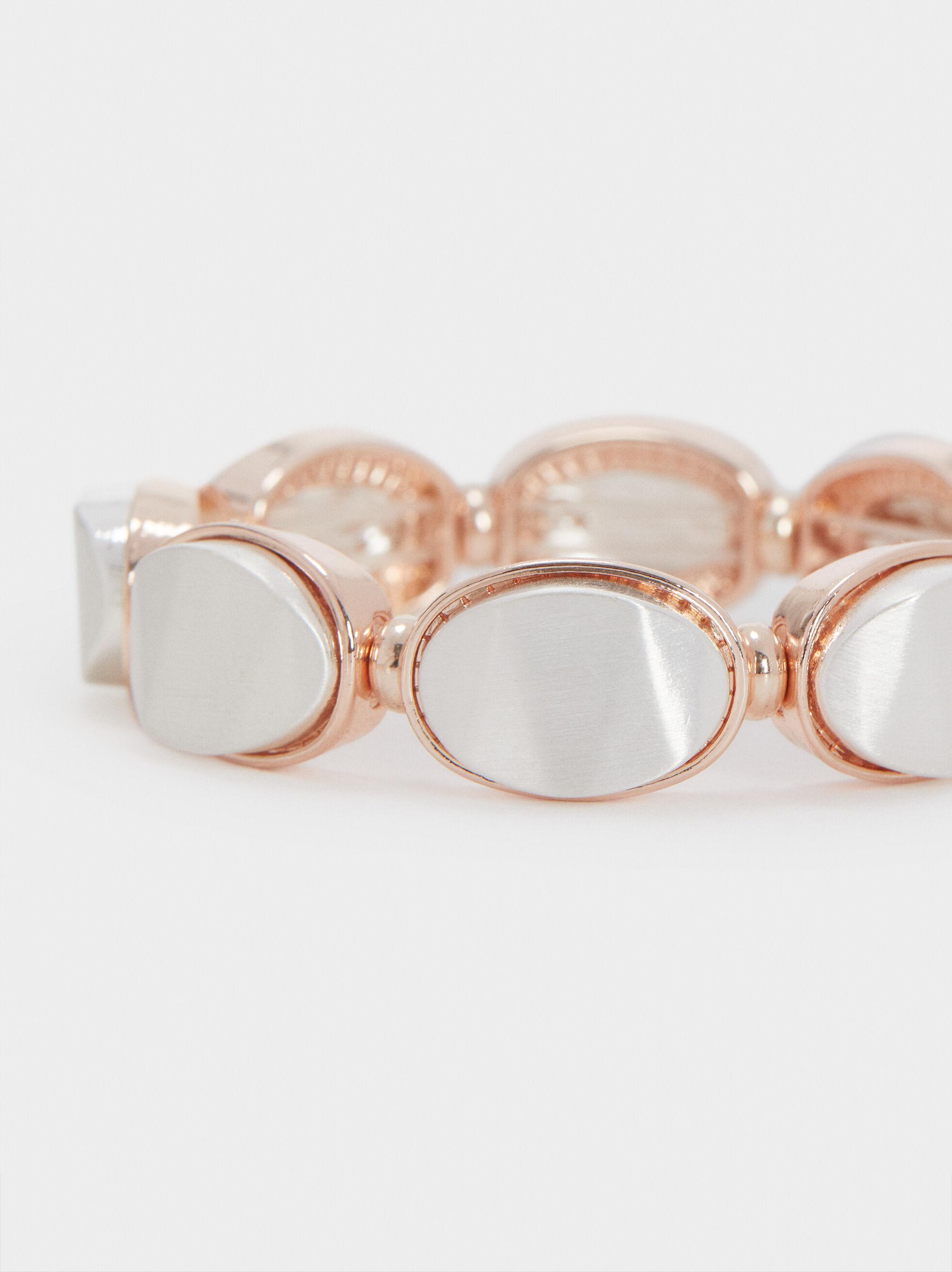 Adjustable Silver-Toned Bracelet, Silver, hi-res