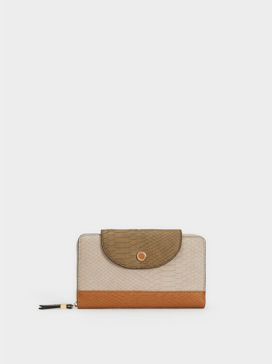 Colour Block Large Purse, , hi-res
